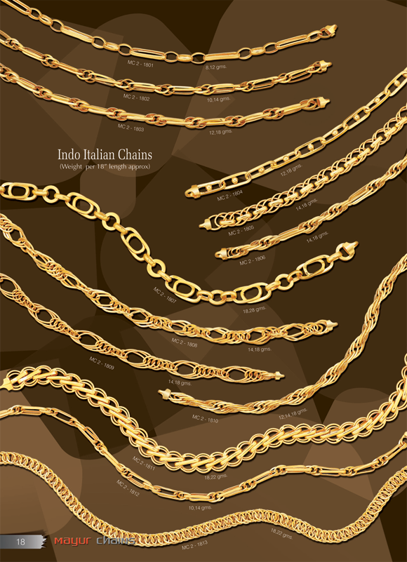 two trend chains italian cute gold chain italina in tone articles solid latest